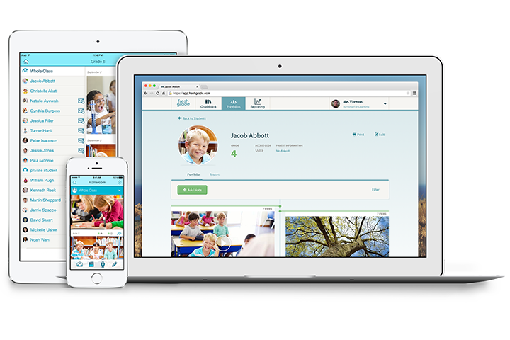 FreshGrade on any device using formative assessment, summative assessment, and visible learning