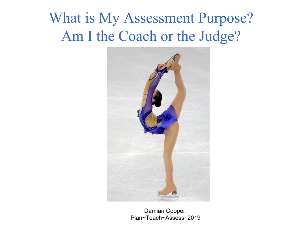Assessment For Learning versus formative assessment by using a figure skater metaphor