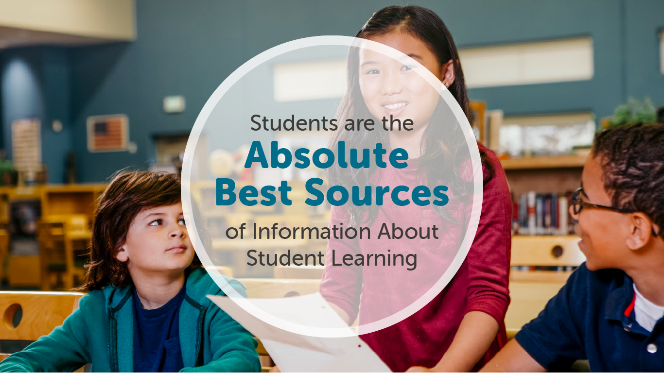 Freshgrade's blogpost on how students are the best sources of Information about student learning.