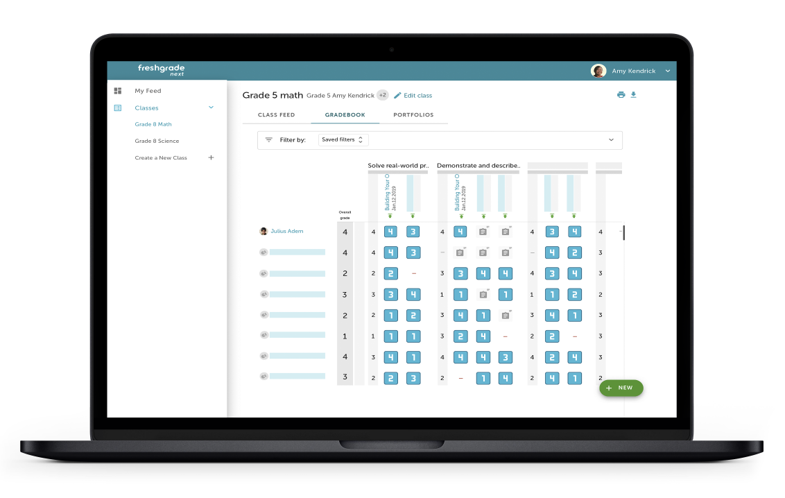 FreshGrade is a 4 in 1 platform that includes a flexible gradebook, used for score-based, standards-based, and anecdotal grading methods.